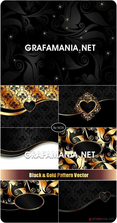 Black & Gold Pattern Vector - �����-������� ����