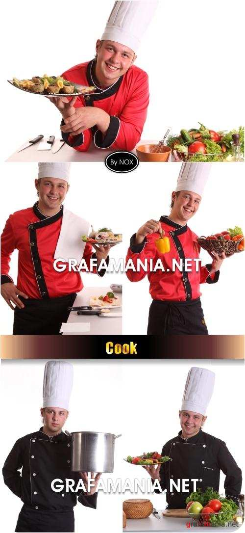 Cook & Food Cliparts - Повар, еда