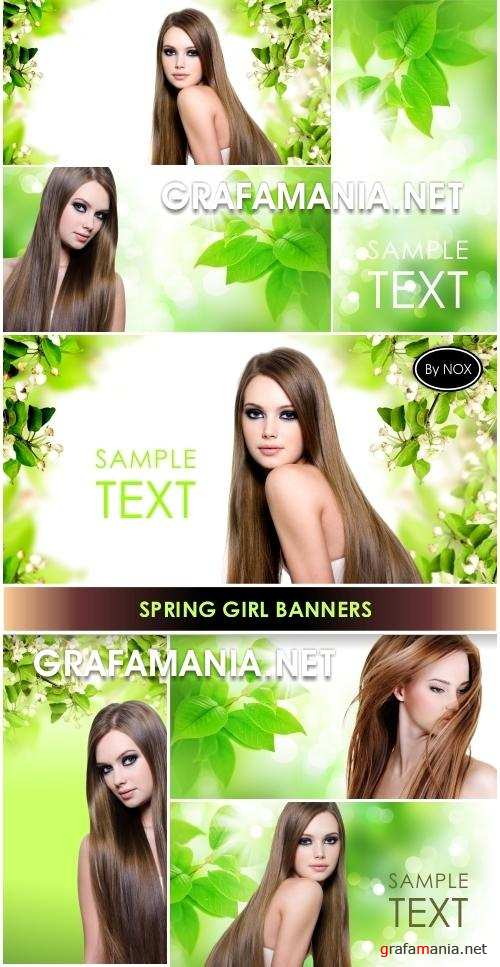 Spring Girl Banners - Весна, девушка, баннер