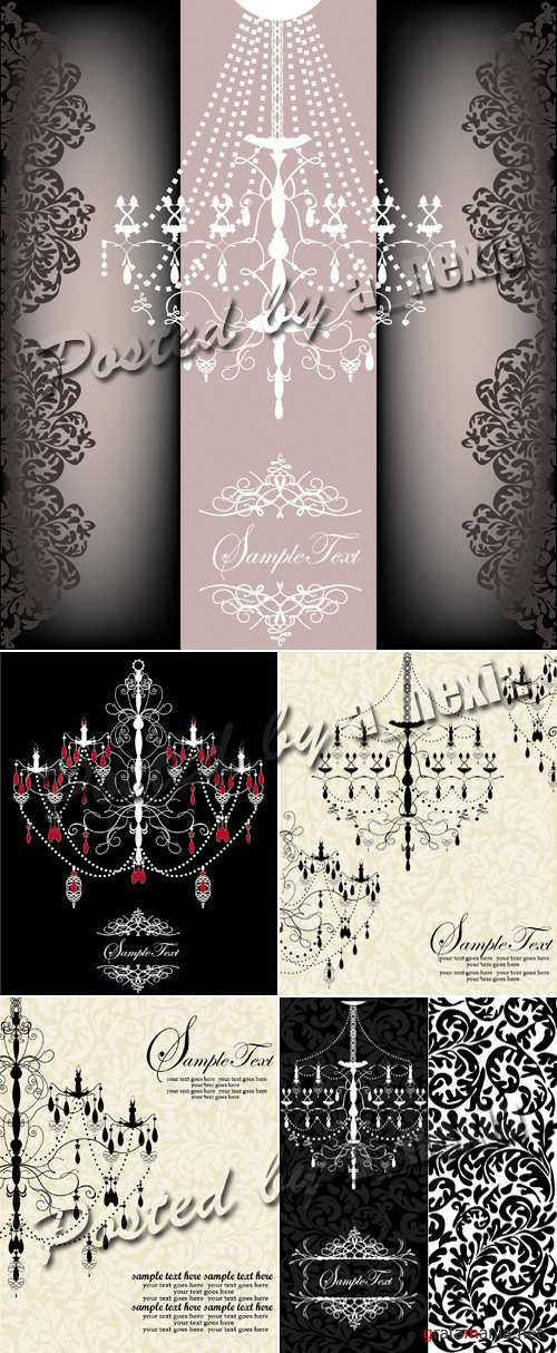 Vintage Backgrounds with Chandelier 2
