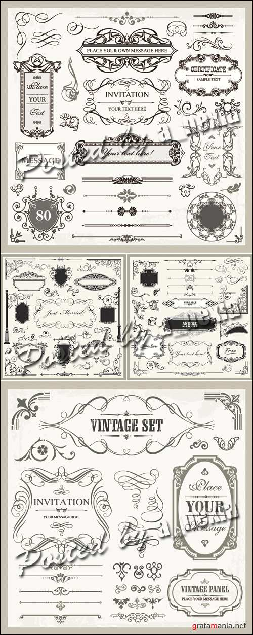 Page Decoration Elements Vector 2