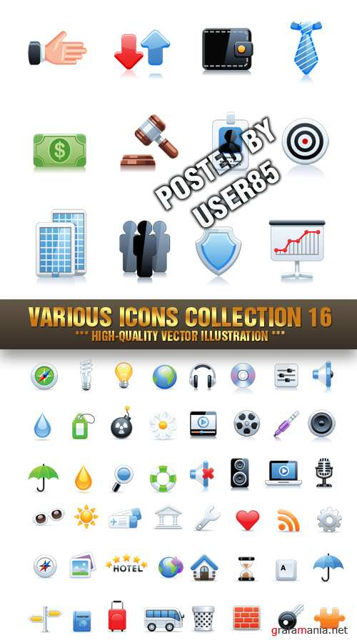 Stock Vector - Various Icons Collection 16