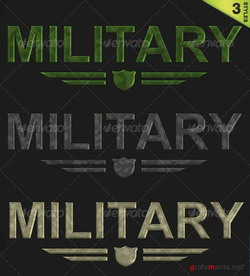 3 Military / Camouflage Styles - GraphicRiver