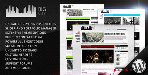 Big City - Personal and Blog Theme v1.4 for Wordpress 3.x