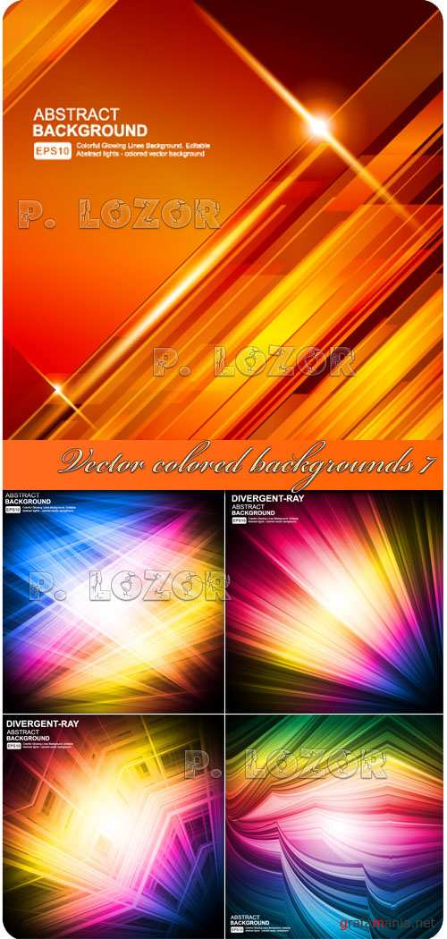 Vector colored backgrounds 7