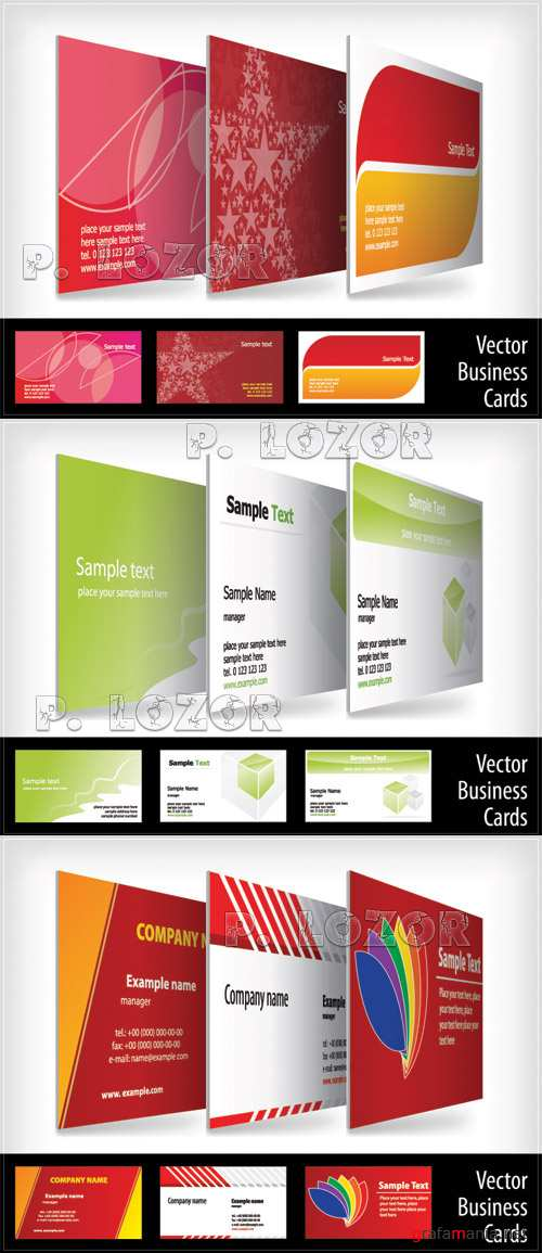 Business card set 10