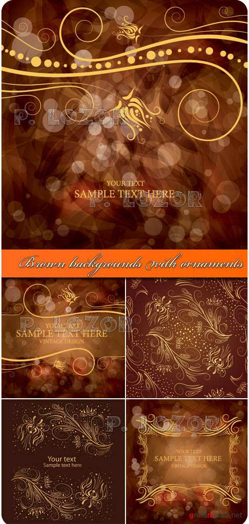 Brown backgrounds with ornaments