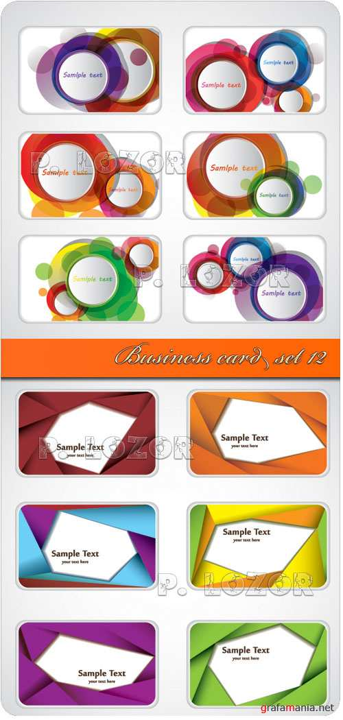 Business card set 12