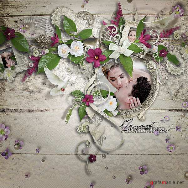 Scrap kit   Blessed Moment