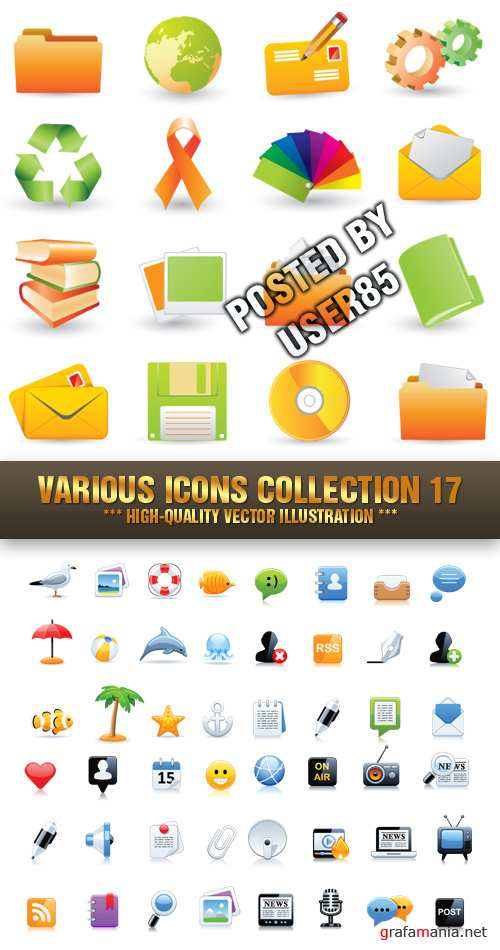 Stock Vector - Various Icons Collection 17