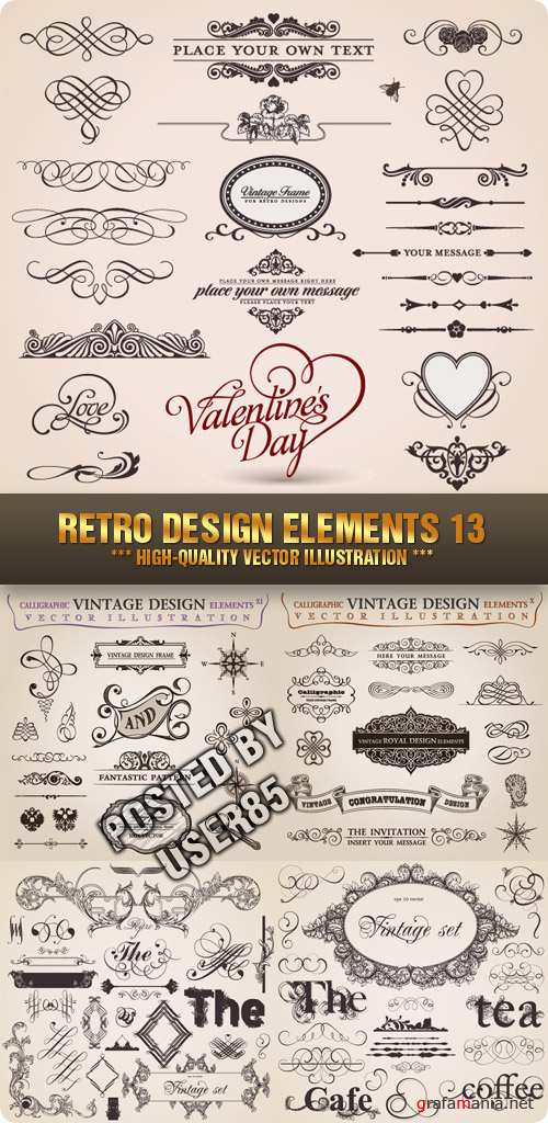 Stock Vector - Retro Design Elements 13