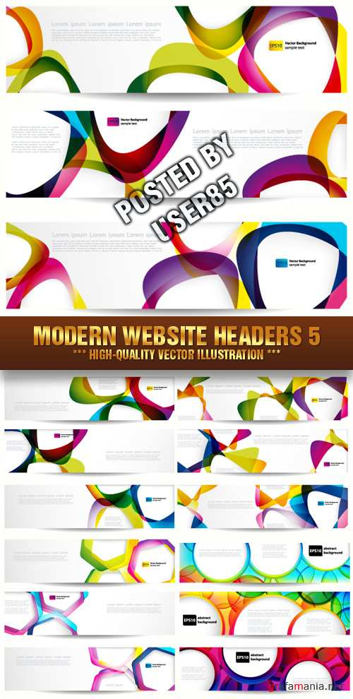 Stock Vector - Modern Website Headers 5