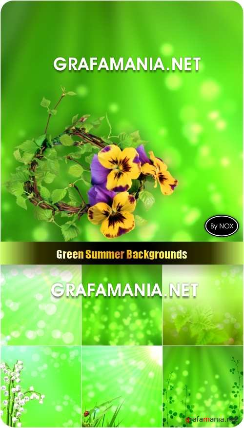 Green Summer Backgrounds - Зеленые фоны