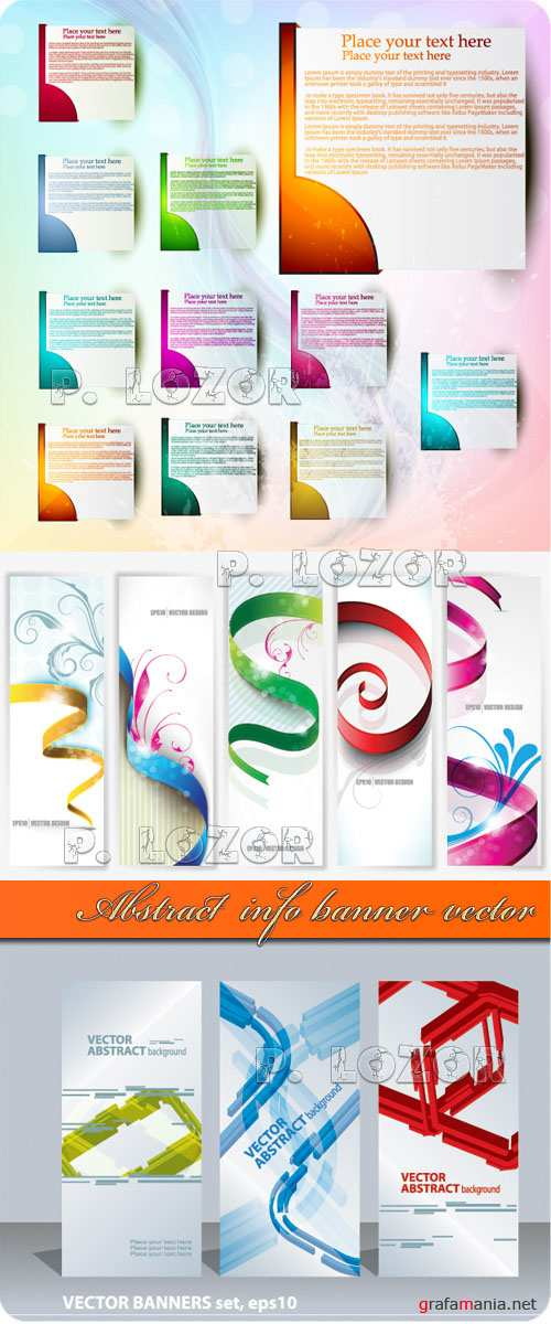 Abstract  info banner vector