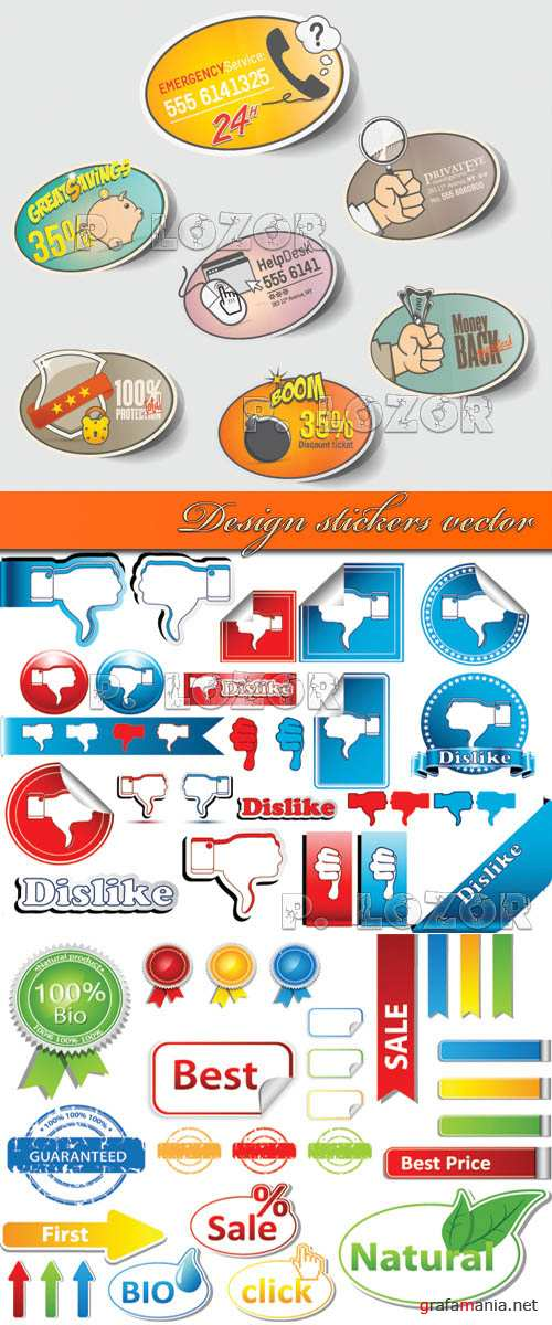 Design stickers vector