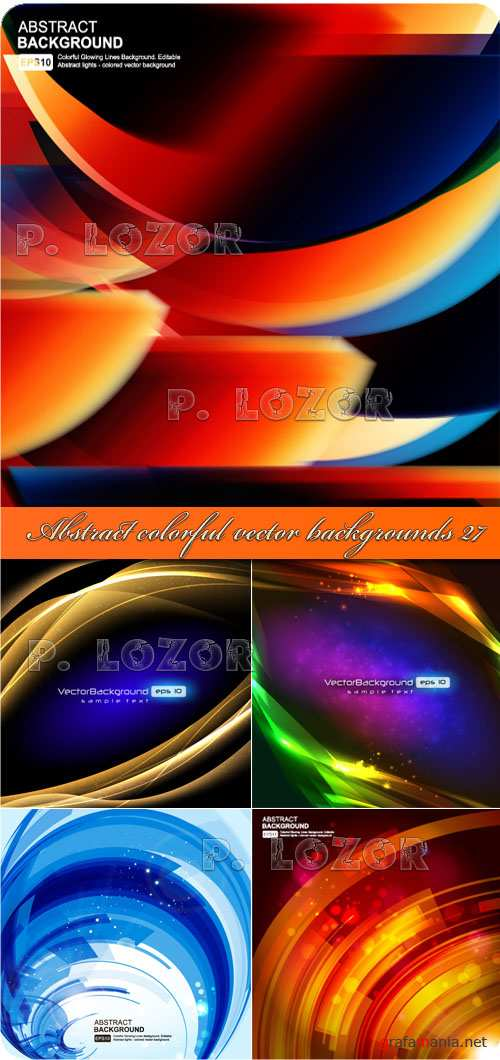 Abstract colorful vector backgrounds 27