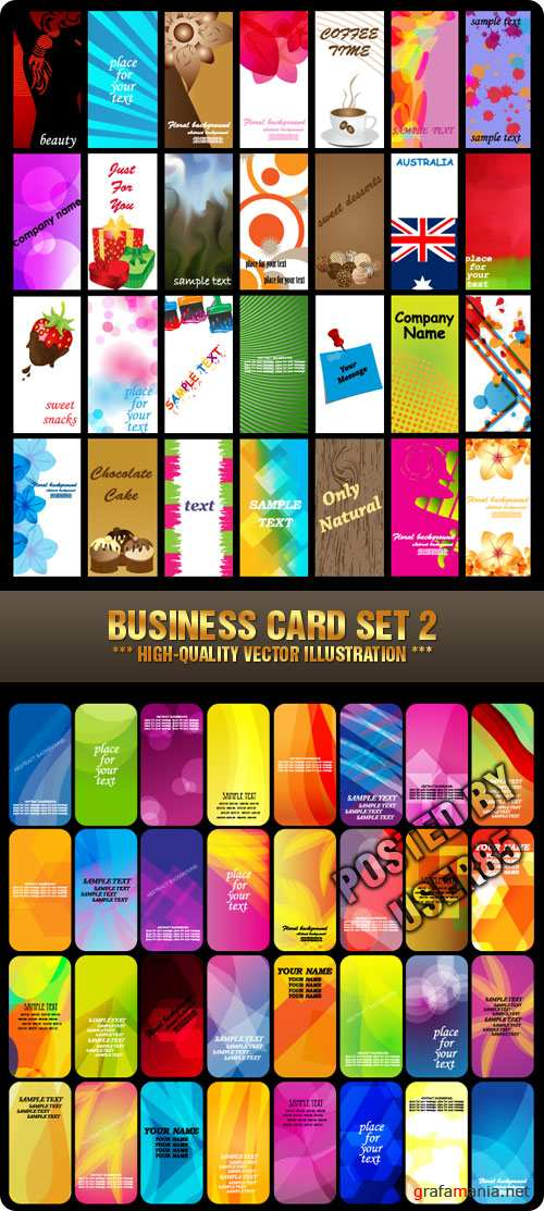 Stock Vector - Business Card Set 2