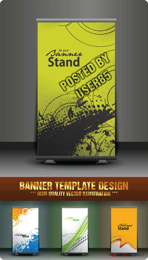 Stock Vector - Banner Template Design