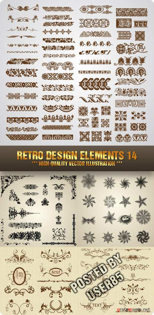 Stock Vector - Retro Design Elements 14