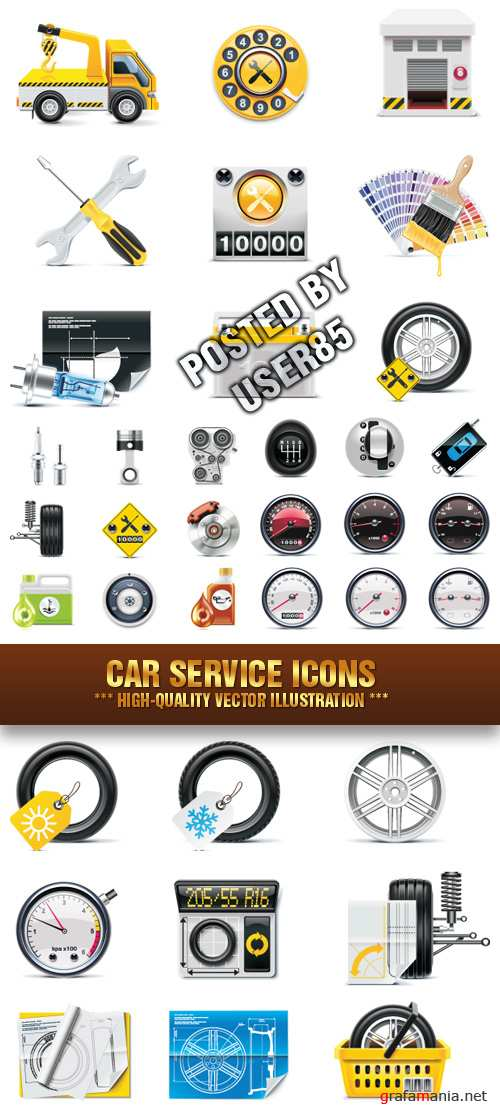 Stock Vector - Car Service Icons