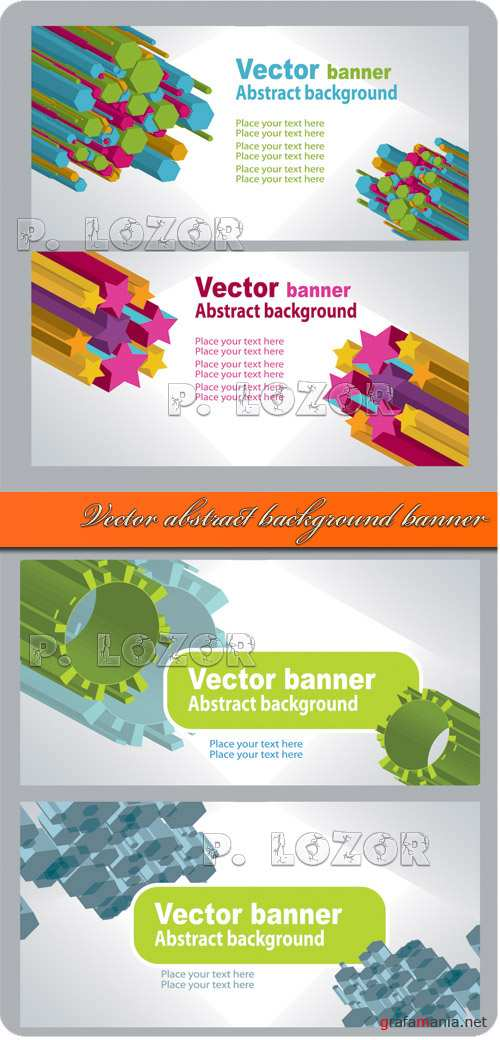 Vector abstract background banner