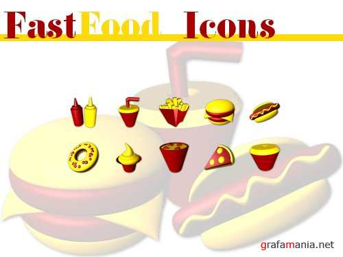 "������ ""�������"" / Fastfood Icons"