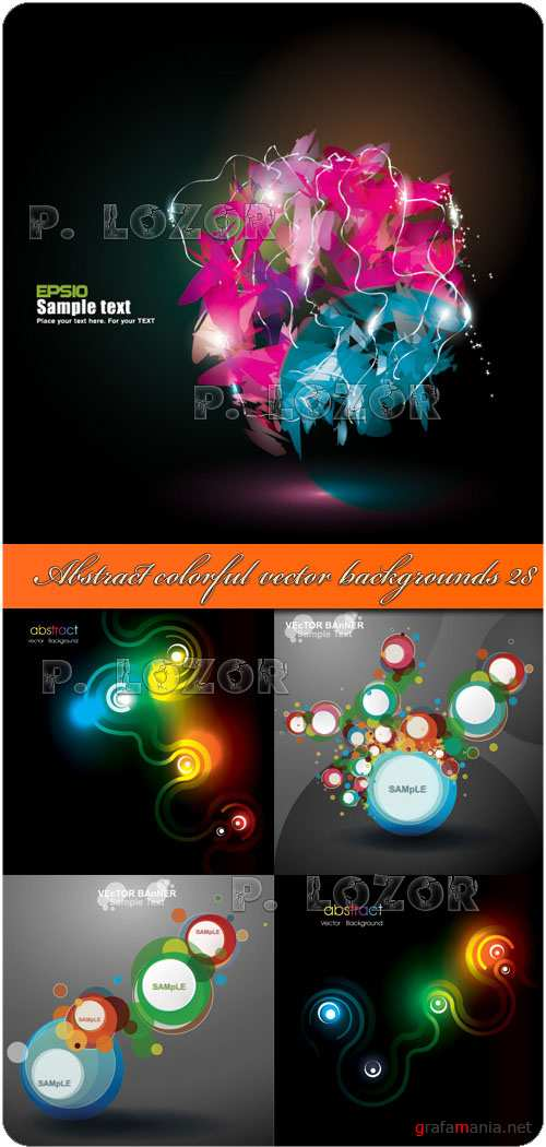 Abstract colorful vector backgrounds 28