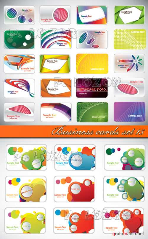 Business cards set 15