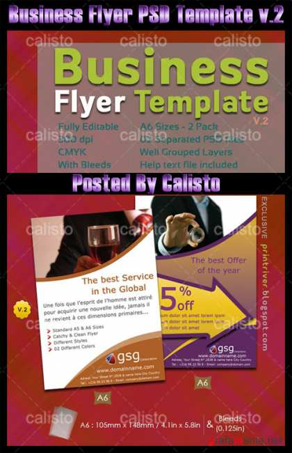Business flyers PSD Template v.2
