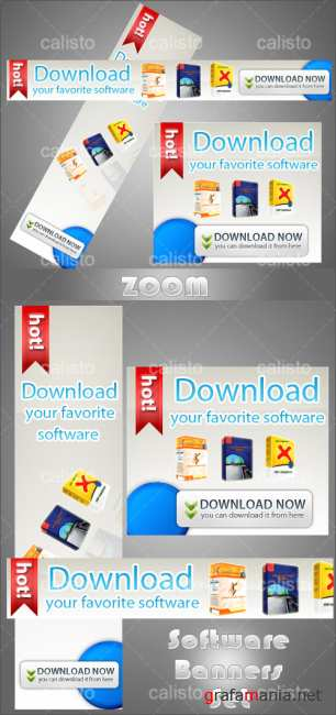 Software PSD Banners Set