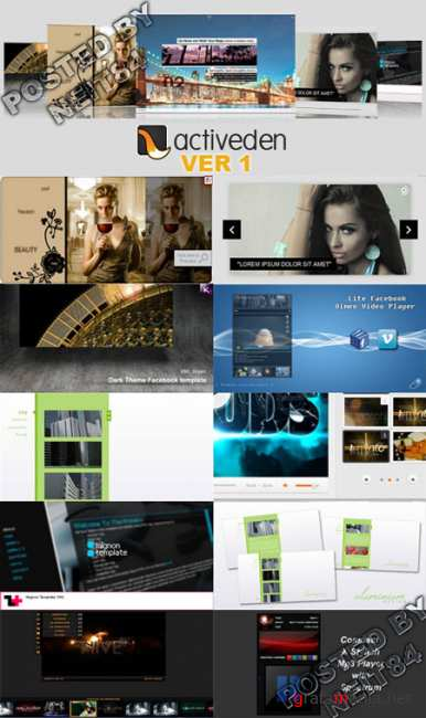 10 Flash Template Activeden XML V1