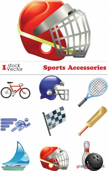 Sports Accessories Vector