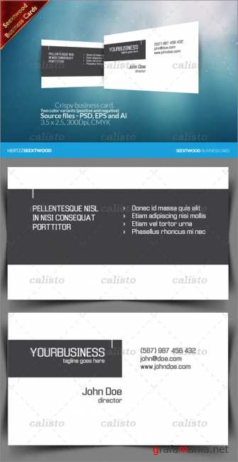 Seextwood Crispy business card - GraphicRiver