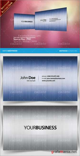 Seextwood Exclusive business card - GraphicRiver