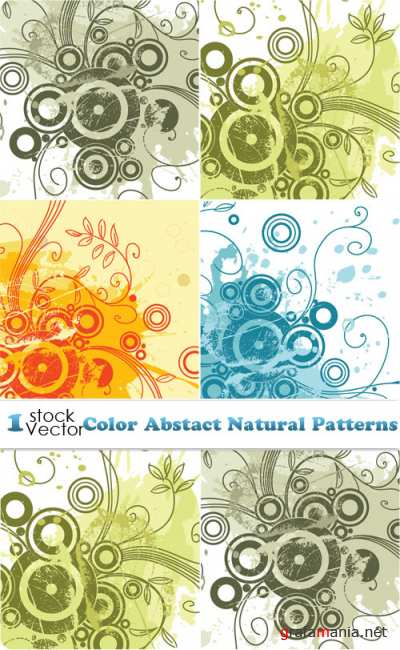 Color Abstact Natural Patterns Vector