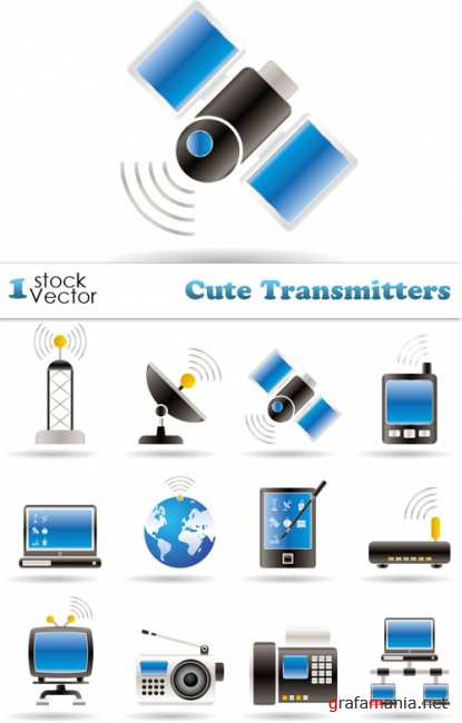 Cute Transmitters Vector