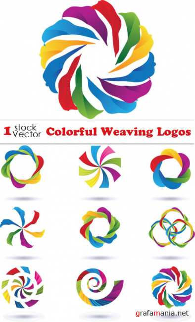 Colorful Weaving Logos Vector