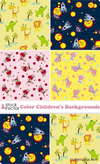 Color Children's Backgrounds Vector