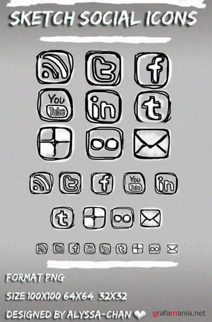 Sketch Social Icons