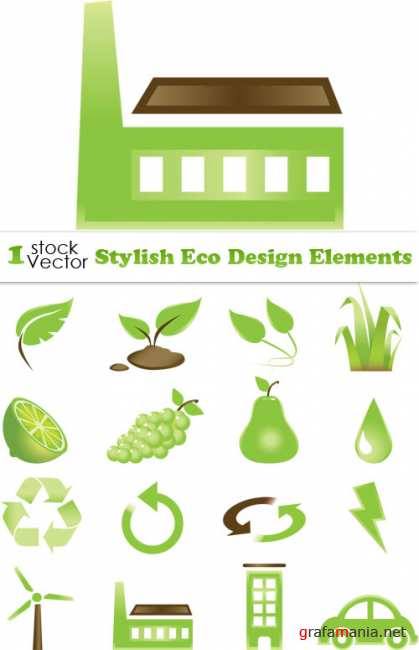Stylish Eco Design Elements Vector