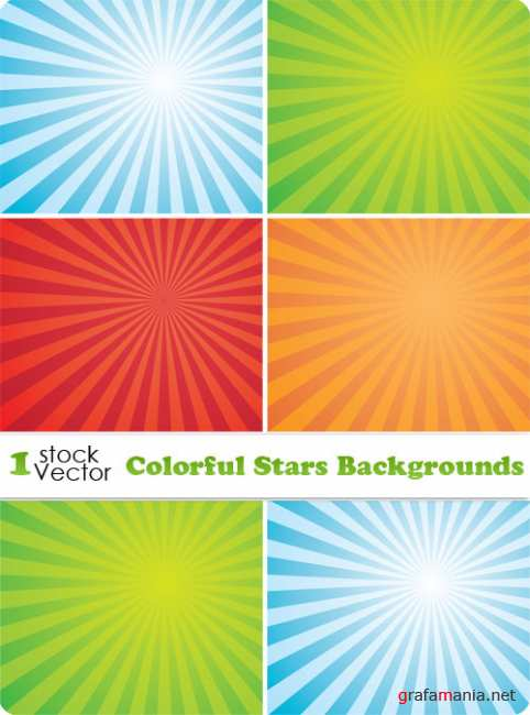 Colorful Stars Backgrounds Vector