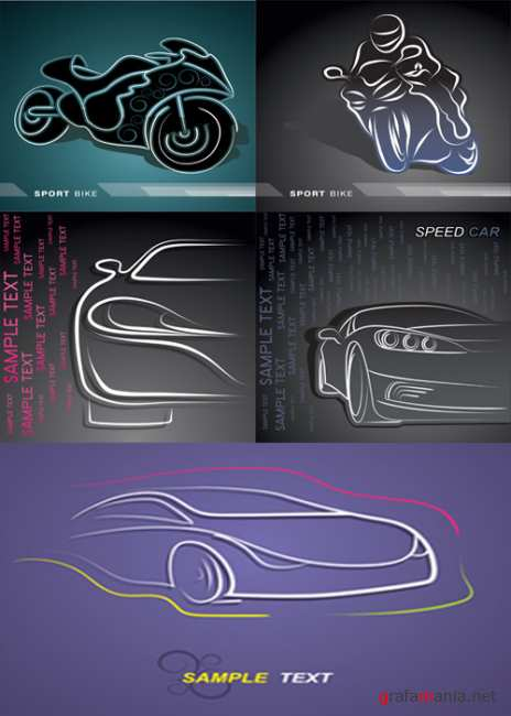 Dynamic lines of the car-shaped