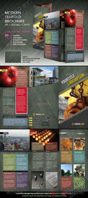 Graphicriver Modern trifold brochure 127105