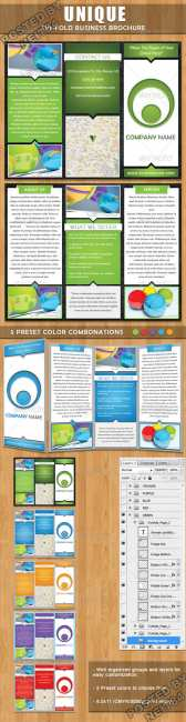 GraphicRiver unique trifold brochure 292877