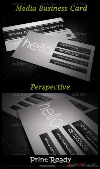 Media Business Card PSD Template