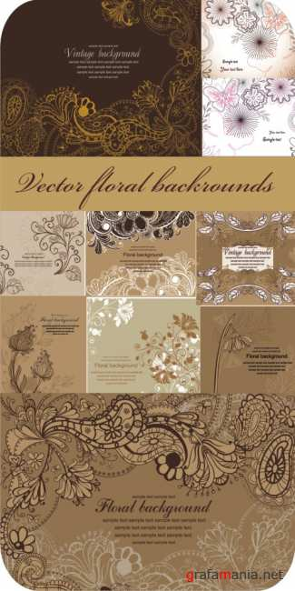 Floral vector bacgrounds