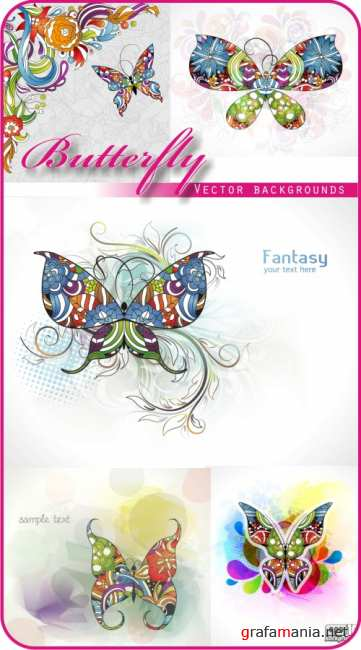 Vector butterfly Backgrounds