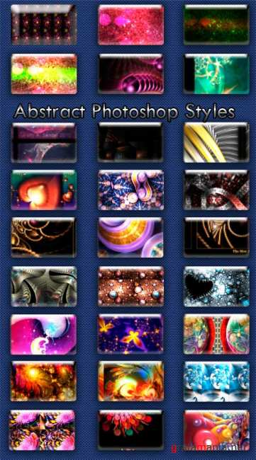 Abstract Photoshop Styles
