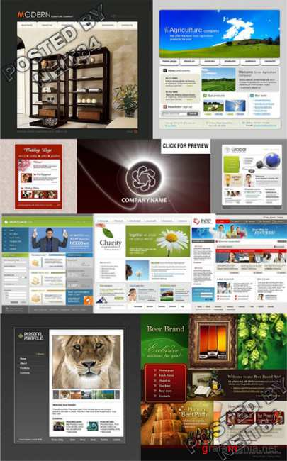 10 Flash Template Website K10 P20