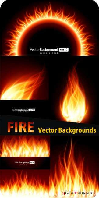 Fire vector backgrounds
